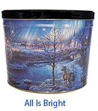 All is Bright 2 Gallon Popcorn Tin