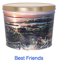 Best Friends 2 Gallon Popcorn Tin