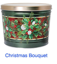 Christmas Bouquet 2 Gallon Popcorn Tin