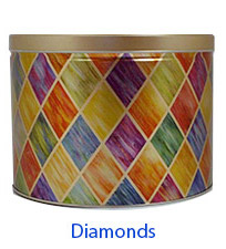 Diamonds 2 Gallon Popcorn Tin