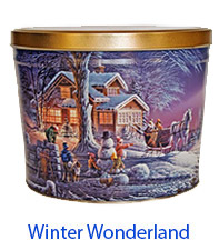 Winter Wonderland 2 Gallon Popcorn Tin