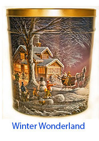Winter Wonderland 3 1/2 Gallon Tin
