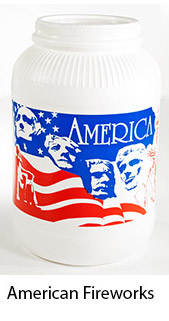 American Fireworks Plastic Popcorn Container