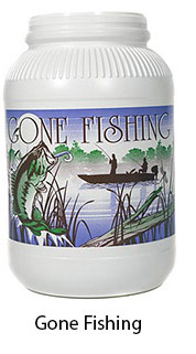 Gone Fishing Plastic Popcorn Container