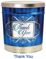 Thank You 6 1/2 Gallon Popcorn Tin