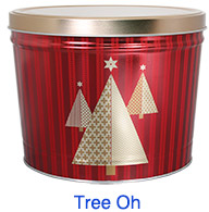 Tree Oh 2 Gallon Popcorn Tin