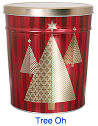 Tree Oh 3 1/2 Gallon Popcorn Tin